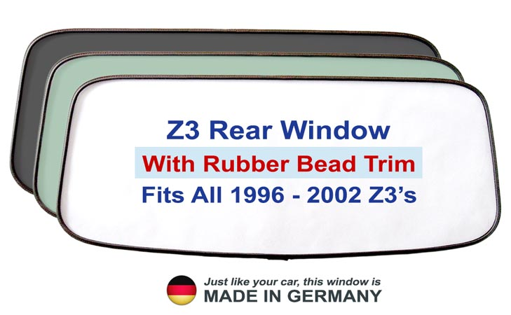 bmw z3 rear window replacement premium rubber bead trim