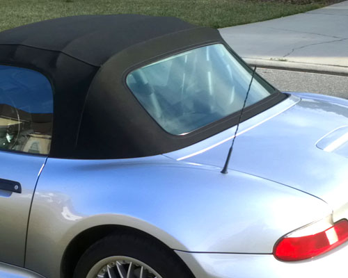 Bmw Z3 Rear Window Replacement Black Tint With Rubber Trim